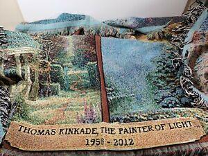 "Thomas Kinkade, The Painter Of Light 1958-2012 Throw Blanket Tapestry 48"" x 58"""