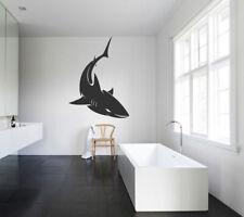 ik1214 Wall Decal Sticker shark fish bathroom