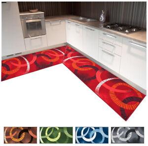 Carpet Kitchen Angular Rimmed Runner per Meter Tailored Non-Slip Modern
