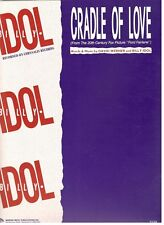 """BILLY IDOL """"CRADLE OF LOVE"""" SHEET MUSIC-PIANO/VOCAL/GUITAR/CHORDS-NEW ON SALE!!"""