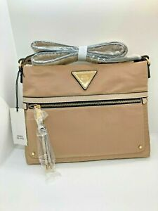 River Island beige panel zip around mini purse new with tags