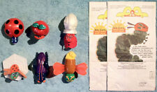 1996 Happy Meal Toys ERIC CARLE FINGER PUPPETS  Complete Set of 6 Toys + 2 Bags