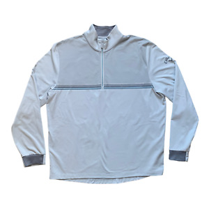 Nike Golf Jacket/Windbreaker 1/2 Zip Up Mens Pullover Lined Size 2XL White