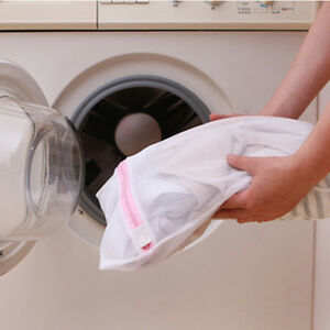 Clothes Washing Bag Mesh Wash Bag Lingerie Delicates Laundry Zipper 3 Sizes T PP