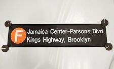 New York City Subway F Train Sign Jamaica Kings Highway R46 Rollsign NYCTA
