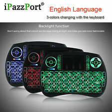 iPazz Port 2.4GHz Wireless Mini English keyboard Backlight For Android TV BOX AU