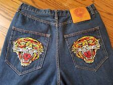 Don ED Hardy Designs   Christina Aguilera 36 x 30 Demin Jeans Tiger Wide Leg Men