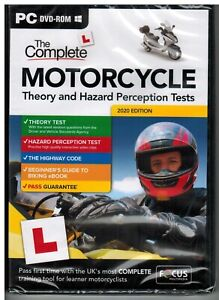 2021 Complete Motorcycle/Motorbike Theory & Hazard Perception Tests PC DVD*FC_M
