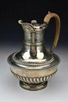 English Sterling Silver Coffee Jug By John Rich London Hallmarks Date 1817