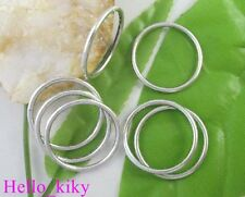 160 pcs Tibetan silver smooth circle links 24mm A8185