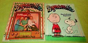 2 Dynamite Magazine 1977 Snoopy Count Morbida's Halloween Charlie Brown