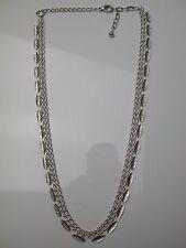 Modernist Collier aus vielen kleinen Stäbchen Silber 835 antik