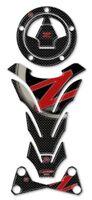 KIT ADESIVI IN GEL 3D Z750 Z1000 compatibile per MOTO KAWASAKI Z 750-1000 ROSSO
