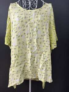 YARRA TRAIL 14 Womens T Shirt Top Yellow White Grey Short Sleeve Loose Fit Light