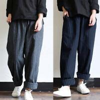 ZANZEA Femme Oversize Taille elastique Bande Simple Casual Pantalon Sarouel