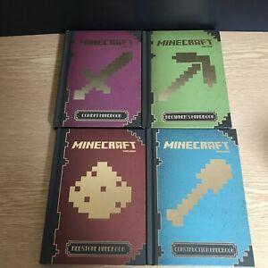 Minecraft books collection set bundle hardback x 4