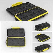 12 SD + 12Micro SD Memory Cards Case Holder Hard Storage Anti-shock Waterproof