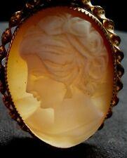 Antique Italian shell cameo brooch/pendant