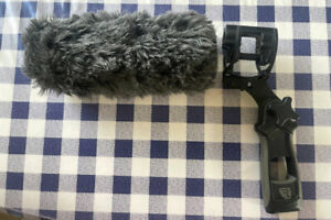 Thick Rycote Softie Windshield 9in and Shotgun holder for boom pole/Hand held.