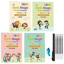 4Pcs Kids Magic Practice Copybook Set English Reusable Sank Calligraphy Tracing