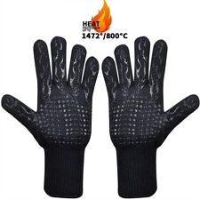 1472°F Silicone Extreme Heat Resistant Cooking Oven Mitt Bbq Hot Grilling Gloves
