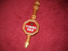 Vintage Tuborg Beer ~ Wood Beer Tap Handles Never Used ~ Rare And Brand New!