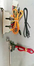 Open Box 2 Port eSata Plate with Molex + 1 Port eSata + 1 eSata Cable