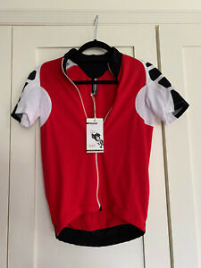 Unisex Assos Cycling Jersey sS Uno S7 Red Swiss - Size S Brand New with Tags