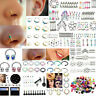 Lots 105pcs Mixed Lip Piercing Body Jewelry Barbell Rings Tongue Rings Wholesale