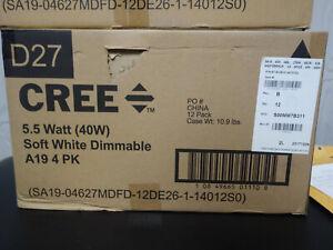 Cree 40w A19 Case of 12 4pk Light Bulbs (48 Bulbs Total)