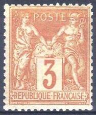 "FRANCE STAMP TIMBRE YVERT N° 86 "" SAGE 3c BISTRE SUR JAUNE "" NEUF xx TTB  M960"
