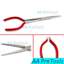 11'' Extra Long Reach Needle Nose Pliers Straight Red Dep Repair Hand Tools