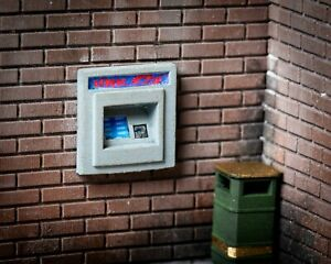 OO Gauge Wall Mounted ATM Machine (Painted) x2