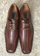 SIMONE MENS BROWN DRESS SHOES SIZE 10