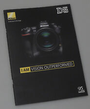 PRL) NIKON D5 DEPLIANT CATALOGO FOTOCAMERA DIGITALE REFLEX BROCHURE DSLR PHOTO
