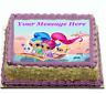 Shimmer and Shine Cake topper edible digital image icing A4 REAL FONDANT  #779