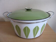 """Mid Century CatherineHolm Green/ White Lotus Extra large serving Casserole 12.5"""""""