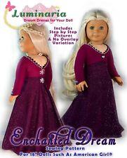 "American Girl Doll Dress Clothes Pattern 18"" Doll Frozen 2 Elsa Dress Holidays"