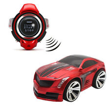 1Pc Racing Toy Car 2.4G 6CH Voice Command Smart Car Watch Remote Control Red