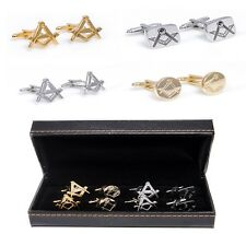 Mason Free Mason Assorted Styles 4 Pairs of Cufflinks Fancy Gift Box Wedding Dad