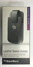 New OEM Blackberry Q10 Leather Swivel Holster Pouch Sleeve Case Retail - Black