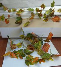 """Artificial Plants Hanging 4x100"""" The Autumn Grape Leaf Vines"""