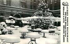 Postcard Jacgues French Restaurant Terrace in Winter, Chicago, Illinois