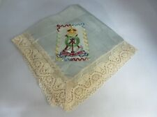 More details for 1914 - 1918 wwi embroidered handkerchief labor omnia vincit pioneer corps