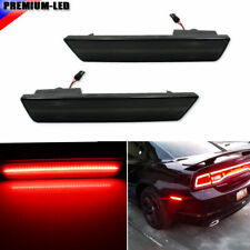 Smoked Red LED Rear Side Marker Lights For 08-14 Dodge Challenger/11-14 Charger