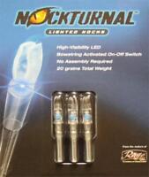 Nockturnal High-Visibility LED 20 Grain GT Blue Lighted Nock 3Pk - NT-114