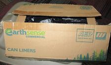 EARTHSENSE COMMERCIAL 7-10 GAL. CAN LINERS/GARBAGE BAGS BLACK RNW2410, 250+ BAGS
