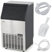 Stainless Steel Commercial Ice Maker Built-In Undercounter Freestand 100LB/24HR