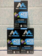 MiO Vitamins Acai Blueberry Vitamin ACD Real Fruit Vegetables Drink Mix 15 Packs