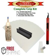 Golf Club GRIP KIT 13 Tape Strips (2x10), Solvent, Vise Clamp and Hook Blade